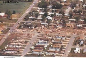 Aerial view of the destruction. Credit: Wichita Eagle
