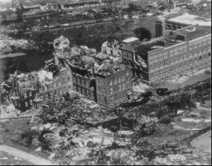 Assumption College after the tornado. Credit: AP