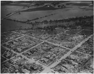 The devastation in Blackwell following the tornado. Credit: National Archives