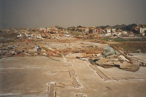 The Eastlake Estates subdivision was devastated. Numerous homes simply vanished. Credit: NOAA