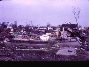 One of the many obliterated homes in Charles City. Credit: Jeff Sisson