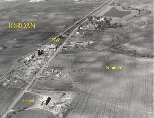 Aerial view of the damage in Jordan. Credit: NOAA