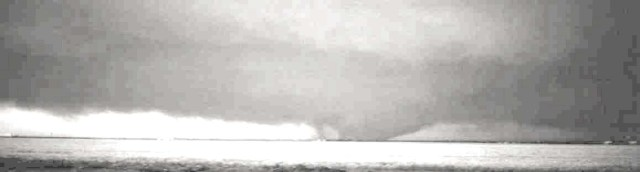 The tornado moving over open country in western Oklahoma. Credit: okgenweb