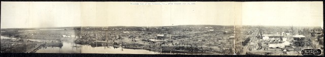 Panoramic view of New Richmond the day after the tornado. Credit: Library of Congress