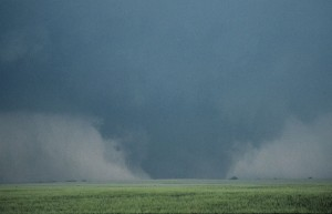 Taken by a storm chaser while the tornado was southeast of Billings, probably from I-35. Credit: Gene Moore