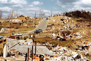 An entire neighborhood of well-built homes was devastated. Credit: NOAA