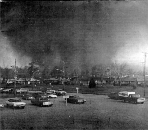 Taken from a shopping center as the tornado entered Xenia. Credit: NOAA