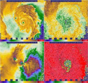 An image from the University of Oklahoma's RaXPol Doppler Radar from when the storm was near its peak. Data from this radar was used to determine the tornado's intensity. Credit: University of Oklahoma