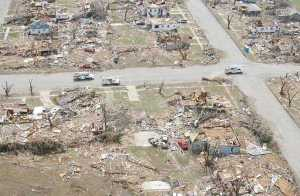 An example of the extreme damage in Greensburg. Credit: Wichita Eagle