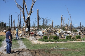 This home in Madison County was completely obliterated. Credit: NOAA