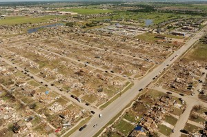 Aerial view of the devastation in Moore. Credit: FEMA
