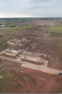 Aerial view of some of the extreme damage in Moore. Credit: Oklahoma National Guard