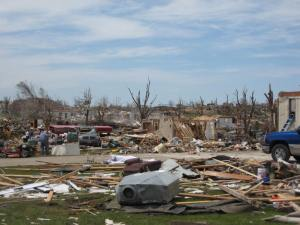 One of the many homes that was swept away. Credit: NOAA