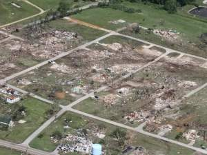 Aerial view of the destruction. Credit: ABC News 5 Cleveland