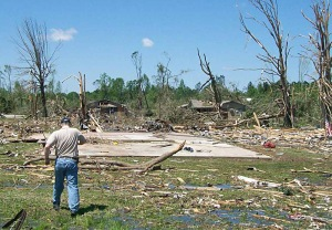 Many homes well built homes were completely swept away in Smithville. Credit: NOAA