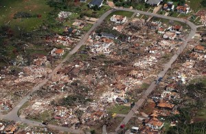 Aerial view of the devastation in Tuscaloosa. Credit: Daily Mail (UK)