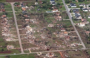 Aerial view of the destruction in Tuscaloosa. Credit: NBC News
