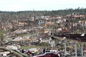 A view of the devastation in Pratt City. Credit: Daily Mail (UK)