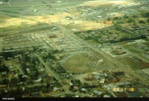 Aerial view of the damage.  Source: NWS Huntsville