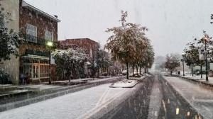 Snow in Lexington, South Carolina on November 1. This was a continuation of the southern snow event that began on Halloween night.  Source: social media