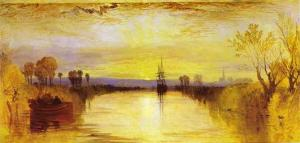 The eerie color of the sunset in this painting of the Chichester Canal in England by J.M.W Turner is believed to have been inspired by the atmospheric phenomena occurring across Europe and North America during the summer of 1816.