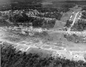 Homes in the Smithfield neighborhood on the north side of Birmingham vanished during the 1977 F5 tornado.  Source: NOAA
