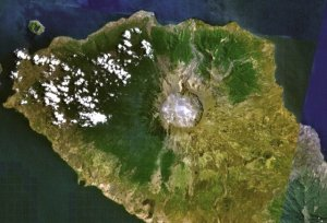 Tambora today.  Source: Smithsonian Institution