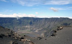 The Tambora caldera as it looks today. The caldera was formed by the massive 1815 eruption.