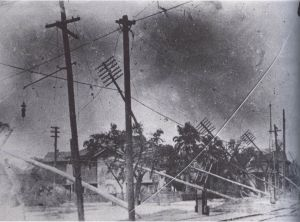 Wind damage from the 1915 hurricane was severe.