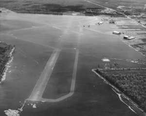 Moissant Airport was underwater after the 1947 hurricane.  Source: US Army Corps of Engineers