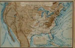 The US Weather Bureau, the precursor to the National Weather Service, was founded in 1870 and began regularly producing weather maps, which debuted in the 1860's. They were part of the wave of scientific innovations in the field of meteorology that took place in the latter half of the 19th Century. Credit: NWS